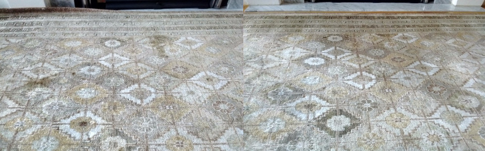 Removing Pet Faces Stain From Silk Rug